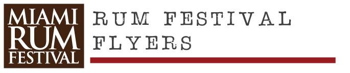 rum festival flyers